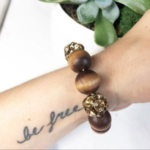 J. Crew Wooden Bead Stretch Bracelet